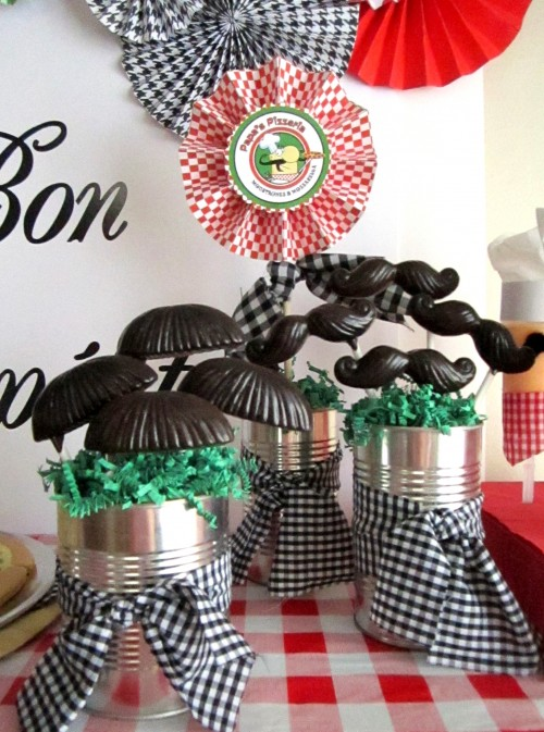 DIY Chocolate Moustaches are a hilarious addition to any party.