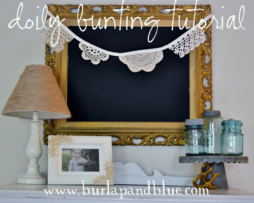 DIY Lace Bunting Tutorial