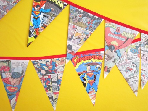 DIY Comic Book Bunting