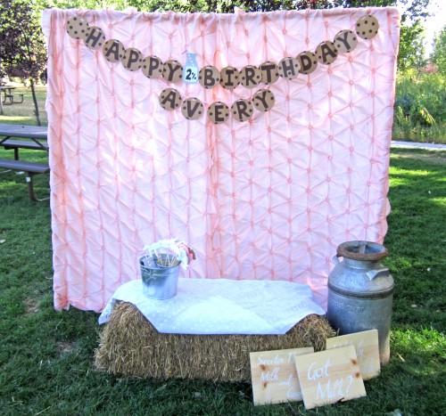 DIY Outdoor Photo Booth