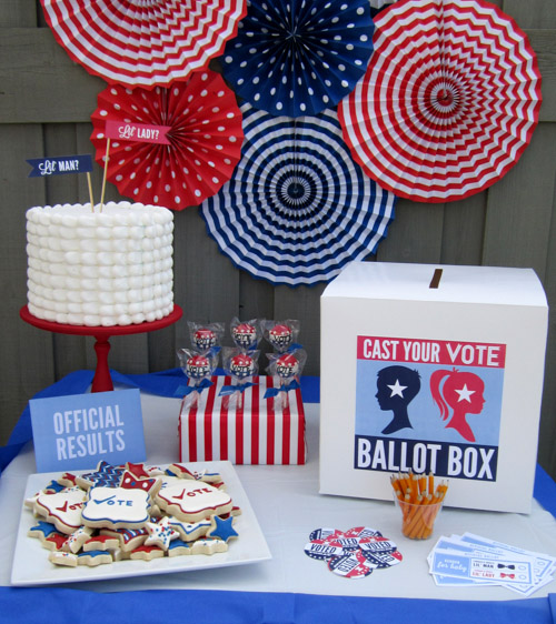 May The Fourth Be With You Baby Shower: {BN Black Book Of Parties} Election Gender Reveal Party
