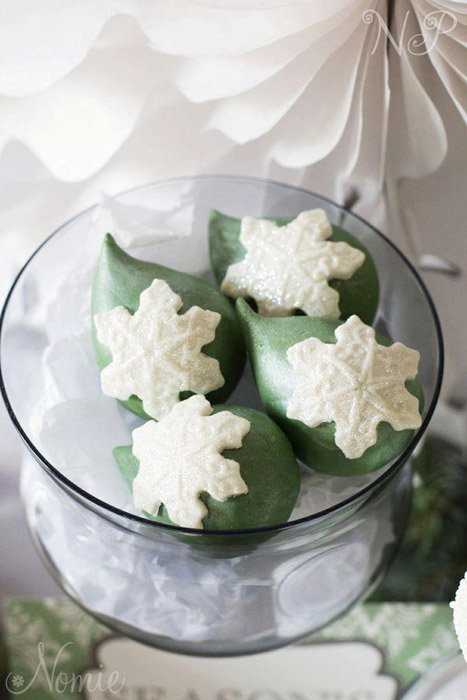 green and white desserts