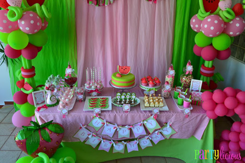 Watermelon Berry Birthday party table