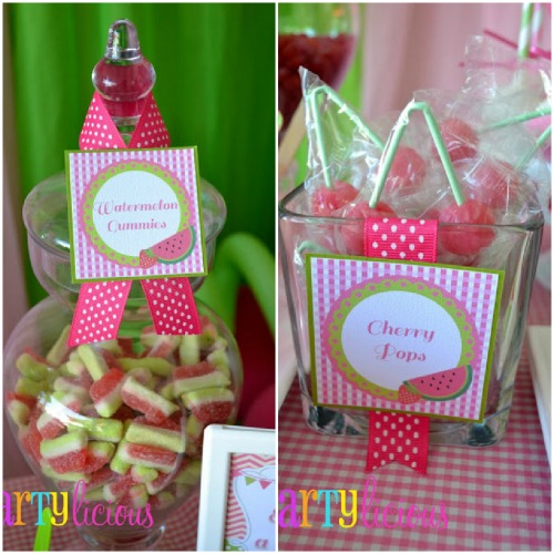 Watermelon Berry Birthday party candy