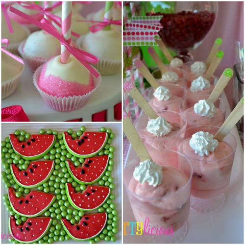 Watermelon Berry Birthday party cookies