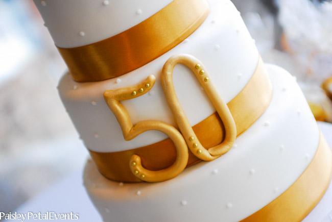 50th wedding anniversary cake center