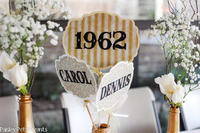50th wedding anniversary centerpieces flags