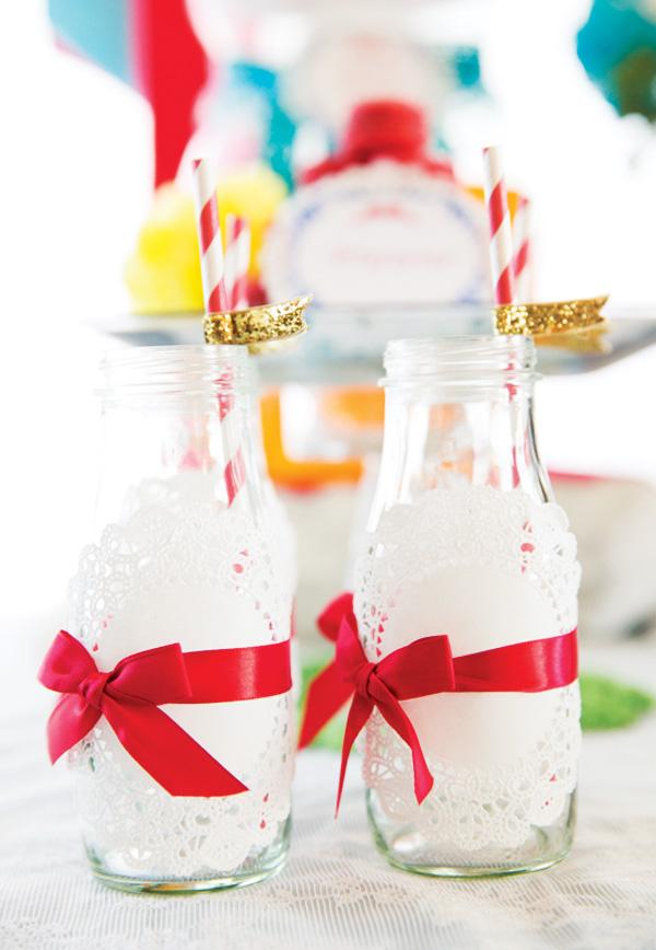 Snow White birthday drinks