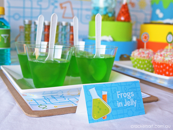 Science party jello cups
